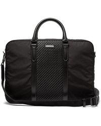 Ermenegildo Zegna - Pelle Tessuta Woven-leather And Nylon Briefcase - Lyst