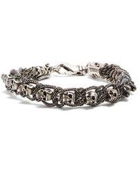 Emanuele Bicocchi | Skull-embellished Sterling-silver Bracelet | Lyst