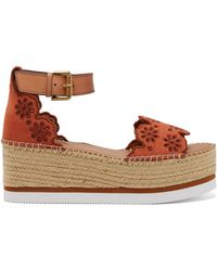 See By Chloé - Suede Flatform Espadrilles - Lyst