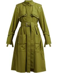 Proenza Schouler - Belted Cotton Blend Single Breasted Trench Coat - Lyst