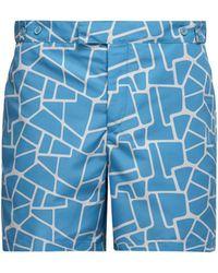 Frescobol Carioca - Caminho Print Tailored Swim Shorts - Lyst