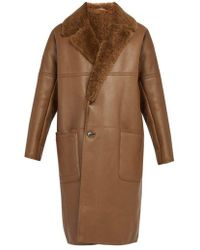 Berluti - Shearling Lined Leather Coat - Lyst
