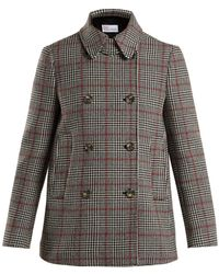 RED Valentino - Prince Of Wales Checked Wool Blend Jacket - Lyst