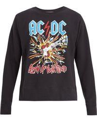Gucci - Ac/dc-print Crew-neck Cotton Sweatshirt - Lyst