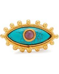 Sylvia Toledano | Evil Eye Gold-plated Ring | Lyst