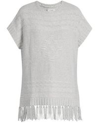 Velvet By Graham & Spencer - Destinee Fringed Poncho - Lyst