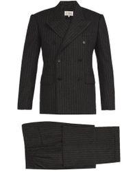 Maison Margiela - Pinstripe Wool-felt Three-piece Suit - Lyst