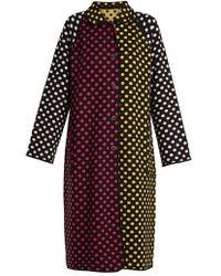 Duro Olowu - Reversible Polka-dot Intarsia-knit Wool Coat - Lyst