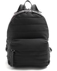 Moncler Logo Quilted Backpack - Black