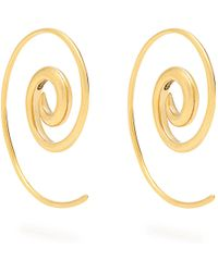 Noor Fares | Spiral Yellow-gold Earrings | Lyst