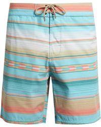 Faherty Brand | Geometric-striped Print Swim Shorts | Lyst