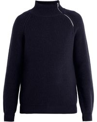 CONNOLLY - Zipped-shoulder Ribbed Cashmere Jumper - Lyst