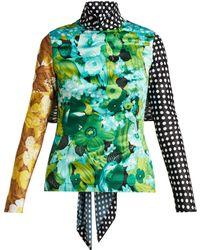 Richard Quinn - Floral And Polka Dot Print Top - Lyst