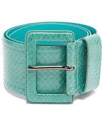 Carolina Herrera - - Watersnake Waist Belt - Womens - Blue - Lyst