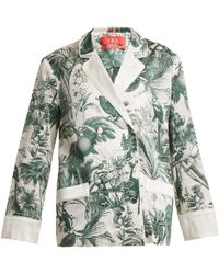 F.R.S For Restless Sleepers - Philotes Palm-print Cotton And Silk-blend Jacket - Lyst