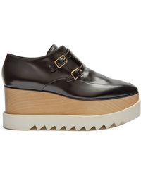 Stella McCartney - Elyse Monk-strap Faux-leather Platform Shoes - Lyst