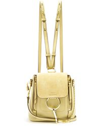 Chloé - Faye Mini Suede And Leather Backpack - Lyst