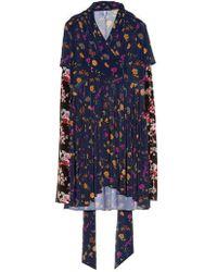 Vetements - Multi Floral-print Long-sleeved Dress - Lyst