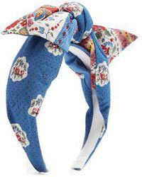 Benoit Missolin - Francette Floral-print Cotton Headband - Lyst