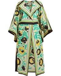 Gucci - Alsacienne Print Linen Blend Kimono Coat - Lyst