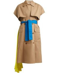 MSGM - Short-sleeved Cotton Trench Coat - Lyst