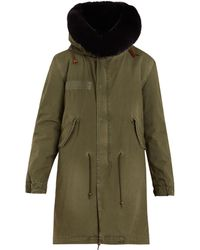 Mr & Mrs Italy - Fur-lined Hooded Cotton-canvas Parka - Lyst