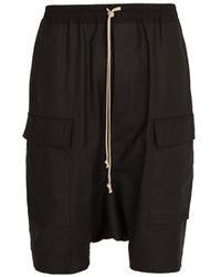 Rick Owens - Dropped-crotch Cotton-blend Shorts - Lyst