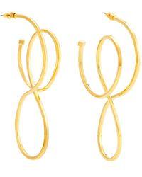 Balenciaga | Circle Hoop Earrings | Lyst