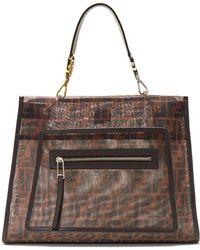 Fendi - Runaway Large Mesh And Leather Bag - Lyst