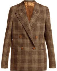 Acne Studios - Prince Of Wales Check Wool Blend Blazer - Lyst