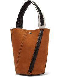 Proenza Schouler - Hex Braided-leather Suede Bucket Bag - Lyst