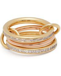 Spinelli Kilcollin - Mozi 18kt Gold & Diamond Ring - Lyst