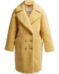 Burberry - Willingstone Wool Blend Teddy Coat - Lyst