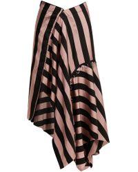 Marques'Almeida - Loop Decorated Asymmetric Draped Skirt - Lyst