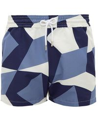 Frescobol Carioca - Modernist Geometric Print Technical Swim Shorts - Lyst