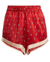 Morgan Lane - Chloe Daisy-print Silk Pyjama Shorts - Lyst