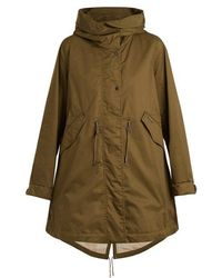 Woolrich - Leather-trimmed Cotton Hooded Parka - Lyst