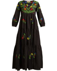 Muzungu Sisters - Frangipani Embroidered Cotton Dress - Lyst