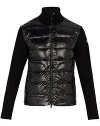 Moncler - Quilted Down And Wool Jacket - Lyst