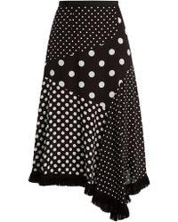 Andrew Gn - Polka Dot Print Asymmetric Silk Skirt - Lyst