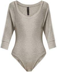 Norma Kamali - Scoop-neck Jersey Bodysuit - Lyst