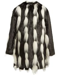 Givenchy - Oversized Faux-fur Coat - Lyst