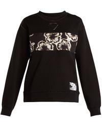 Prada - Hibiscus-appliqué Sweatshirt - Lyst