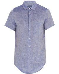 Frescobol Carioca - Point Collar Short Sleeved Linen Shirt - Lyst