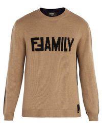 Fendi - Family Colour-block Jumper - Lyst