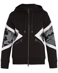 Neil Barrett - Camouflage Hooded Sweatshirt - Lyst