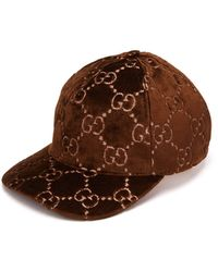 Gucci - GG Supreme Velvet Snapback Hat - Lyst