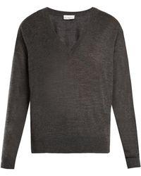 Raey - V Neck Fine Knit Cashmere Sweater - Lyst