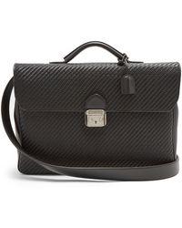 Ermenegildo Zegna - Woven-leather Briefcase - Lyst