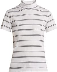 A.P.C. - Clea Striped Cotton Blend Top - Lyst
